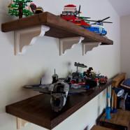 Custom Walnut Wooden Shelves