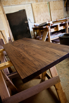 Custom Walnut Counters Stained - Made in Texas
