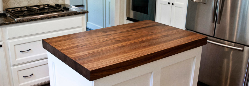 Walnut Kitchen Island Counters in West University