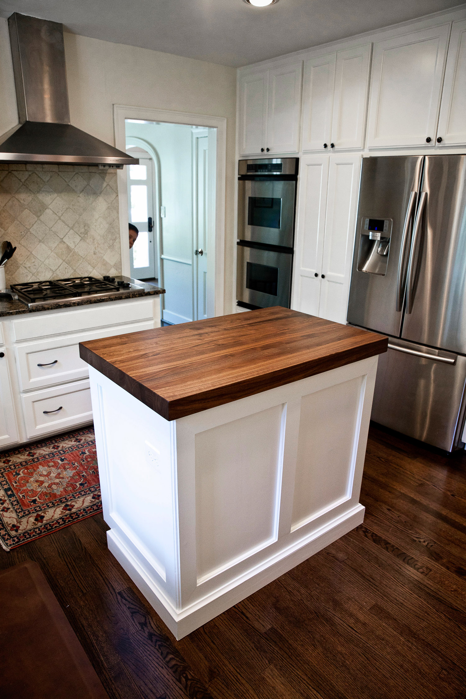 Superbe Walnut Kitchen Island Counter In West University   Houston, Texas
